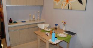 公租房样板房之餐厅厨房图片