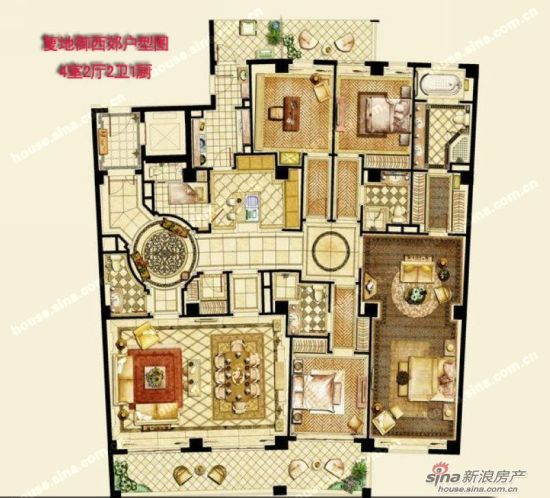 复地御产品220平起组图设计符合户型定位(大街香港美食蓝地西郊图片